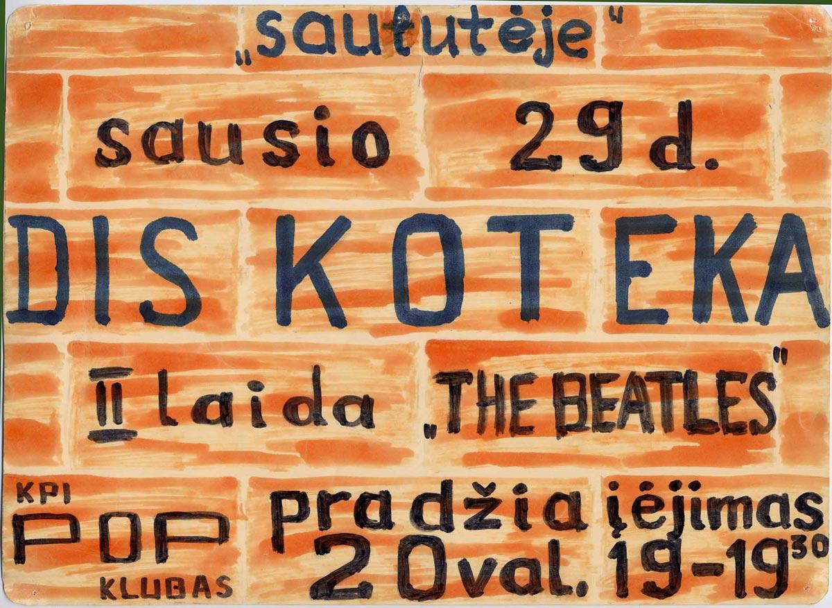 Skelbimas-Diskoteka-II-1971
