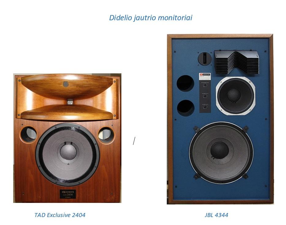 TAD Exclusive 2404 ir JBL 4344