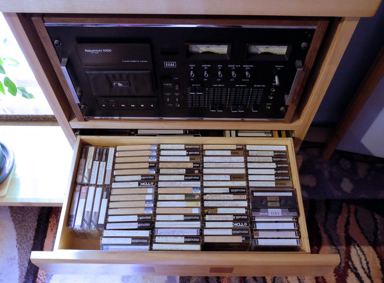 Įrašai-kasetėse-ir-Nakamichi1000