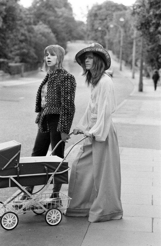 David Bowie and Angie in 1971