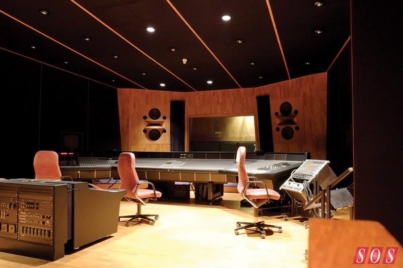 Studio 3 was intended mainly for mixing and overdubbing. Tom Hidley's 'non-environment' control room houses a huge SSL desk