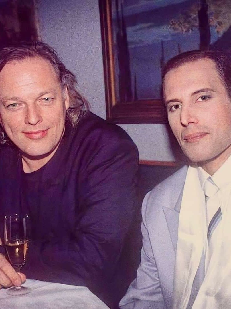 David Gilmour & Freddie Mercury 1990